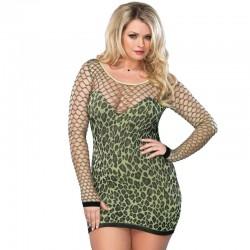 Leg Avenue Seamless Leopard Minidress UK 16 to 18