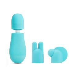 Rose Petite Massage Wand Kit Blue
